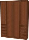 Шкаф для белья со штангой, полками и ящиками  Арт. 112 (Гарун)