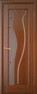 Межкомнатная шпонированная дверь со стеклом. Афина шт