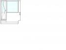 Балконный блок (дверь + глухое окно) под ключ в кирпичный дом