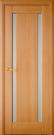 Межкомнатная шпонированная дверь со стеклом. Мадрид шт