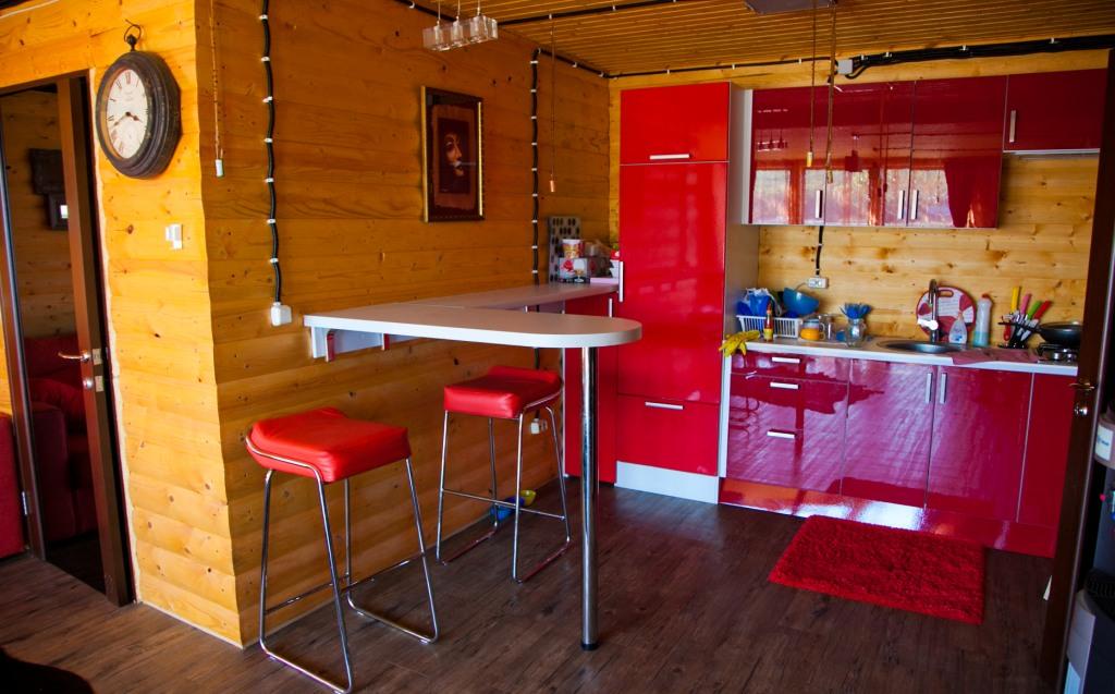 Одноэтажный коттедж, кухонная зона