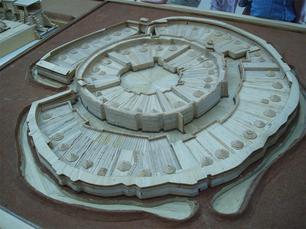 Макет реконструкции городища, 2 тыс. лет до н. э. Фото: Диана Галимова
