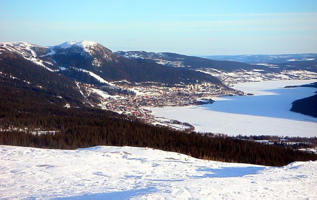 Вид на горнолыжный курорт Оре.