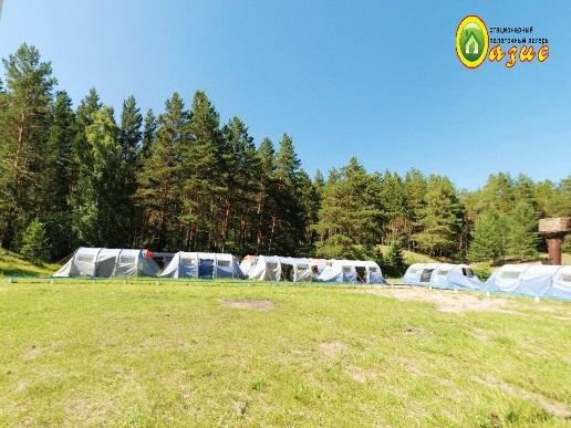 Палаточный городок на пруду Лугавка. Фото: www.sibir-travel.ru