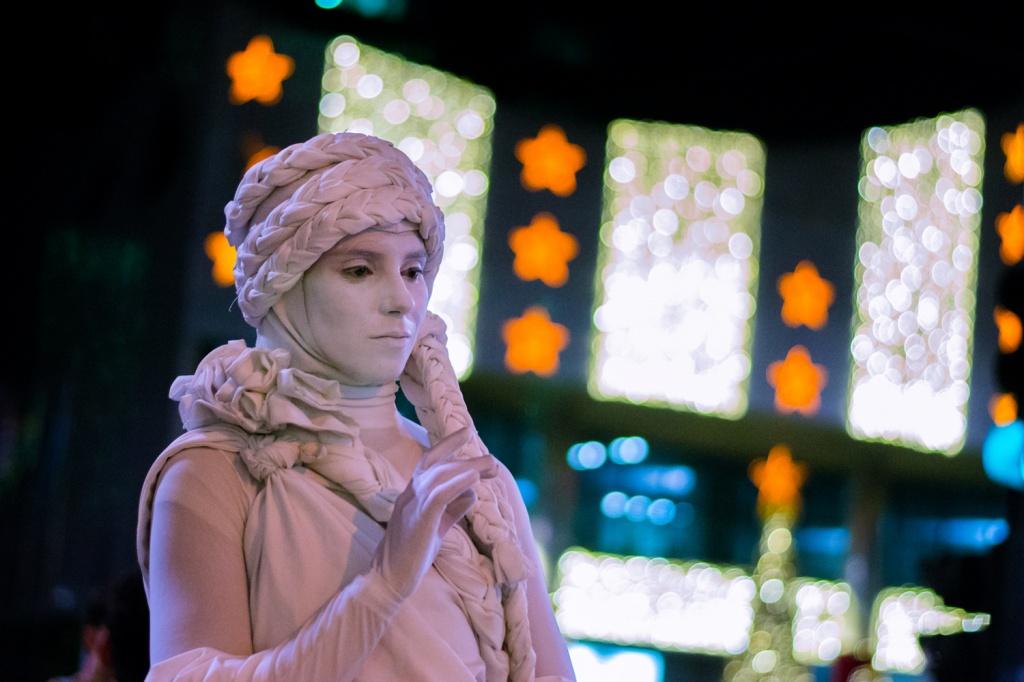 Улица Паулиста, живая статуя. Автор: paulisson miura. Фото:  www.flickr.com