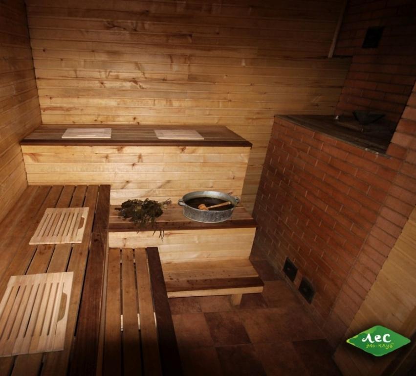 Русская баня на дровах (два отделения): парная и моечная комнаты, комната отдыха со спутниковым ТВ