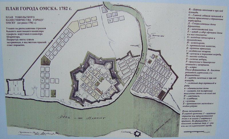 План крепости 1782 г.
