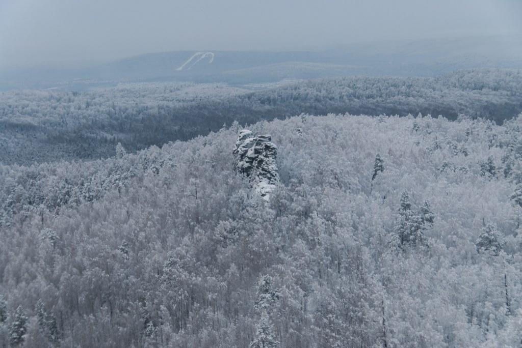 Скала Семь Братьев с высоты птичьего полета. Фото: Дмитрий Карпунин