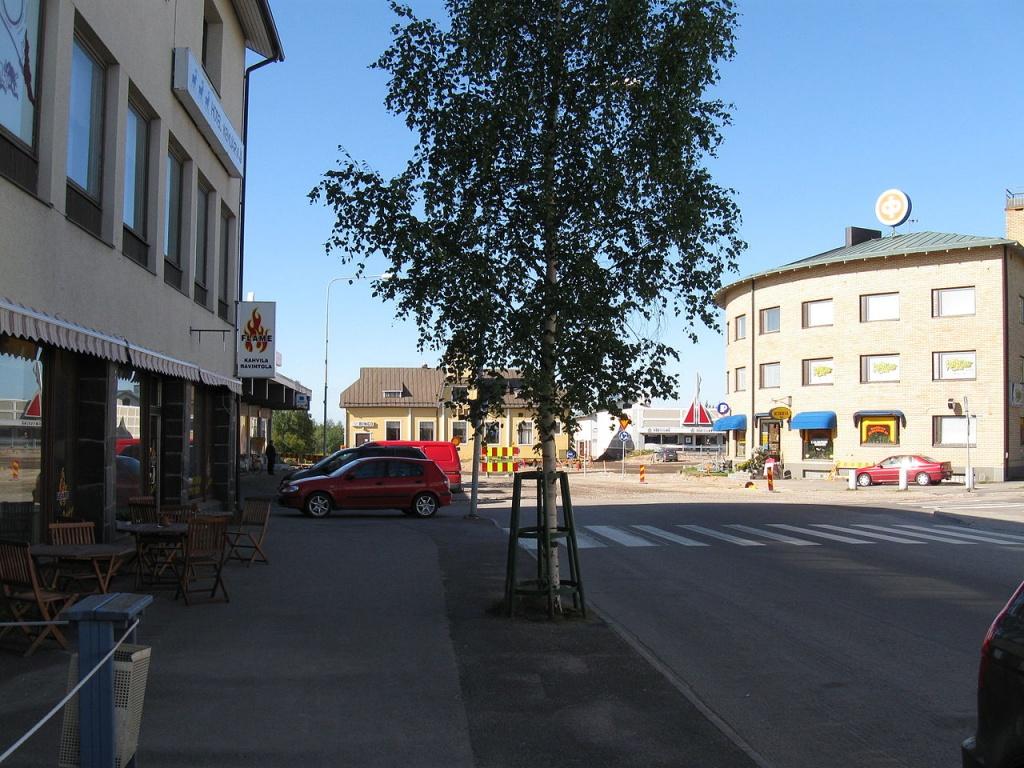 Центр города Кемиярви. Автор: SeppVei. Фото:  wikimedia.org