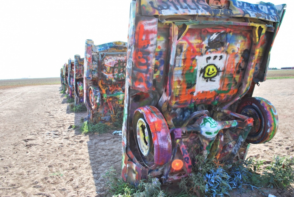 Ранчо Кадиллаков. Автор: Tydence. Фото:  www.flickr.com