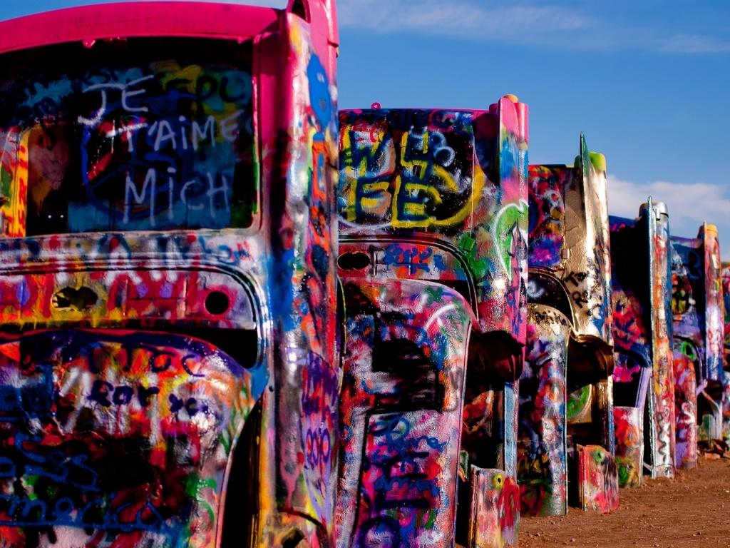 Ранчо Кадиллаков. Автор: chanselor. Фото:  www.flickr.com