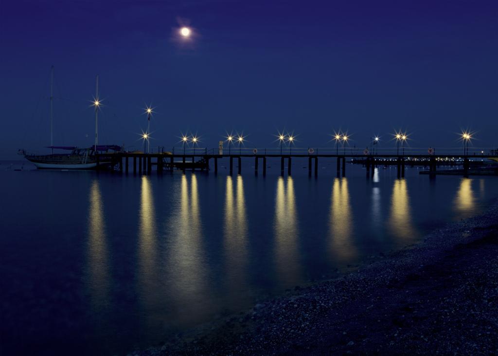 Ночной пляж. Фото:  Тонкости туризма