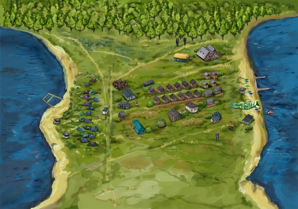 Карта туристической поляны трех озер. Источник:  silaozer.ru