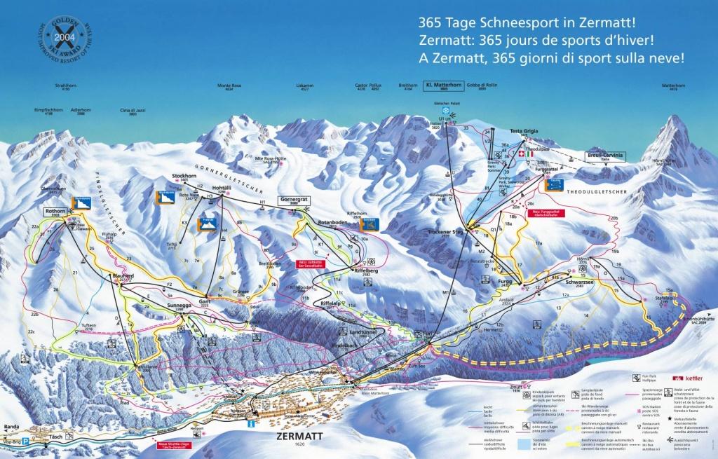 Карта зоны Церматт. Источник: zermatt.ch