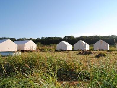 Палаточный лагерь базы