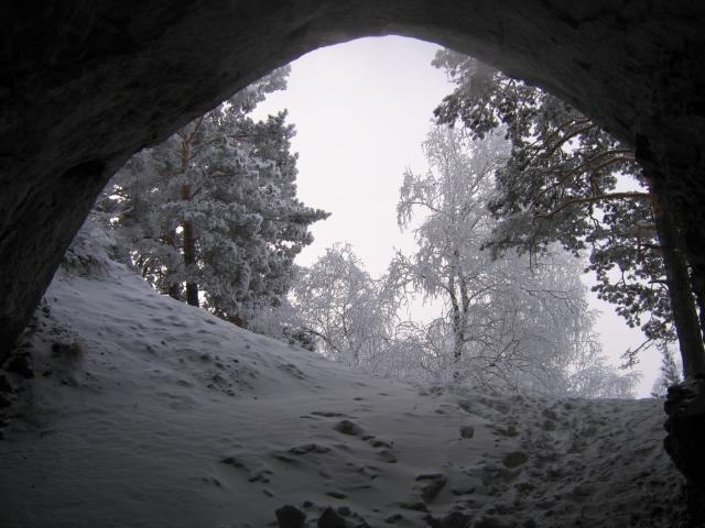Вид из пещеры   cave.krasu.ru