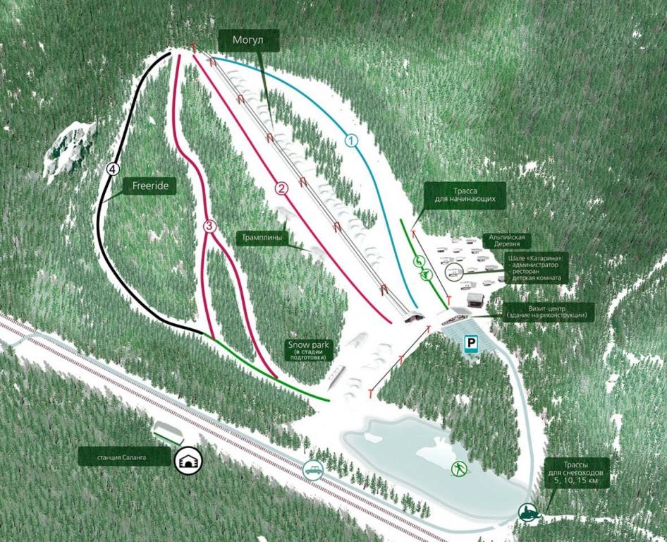 Схема трасс. Фото: www.salanga.ru