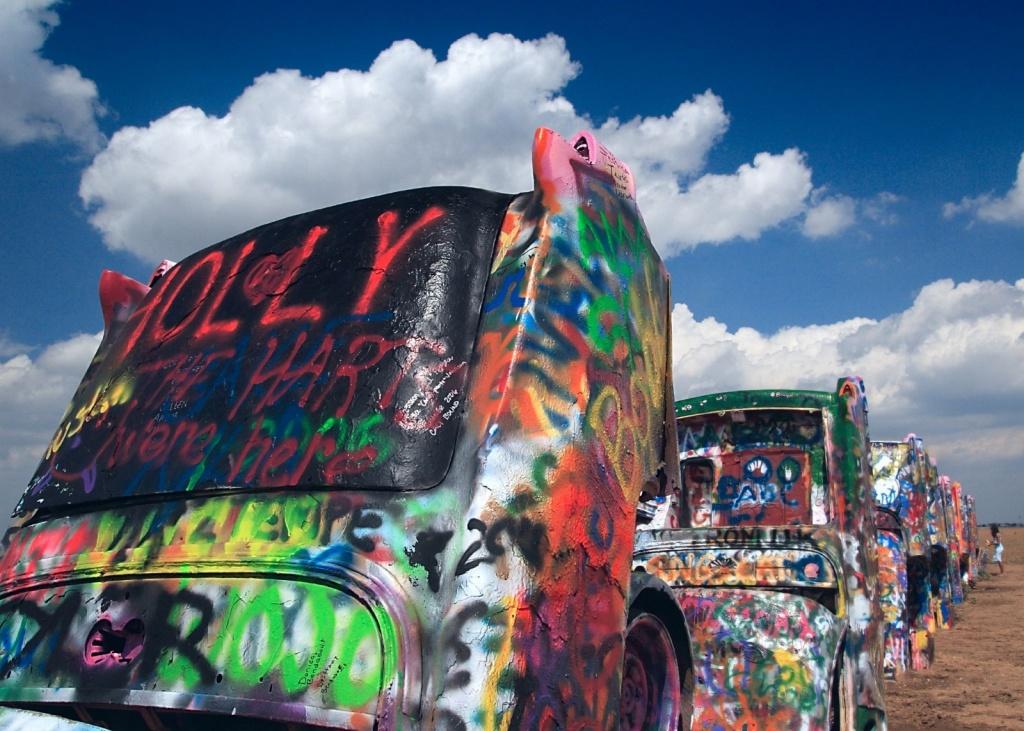 Ранчо Кадиллаков. Автор: longhorndave. Фото:  www.flickr.com