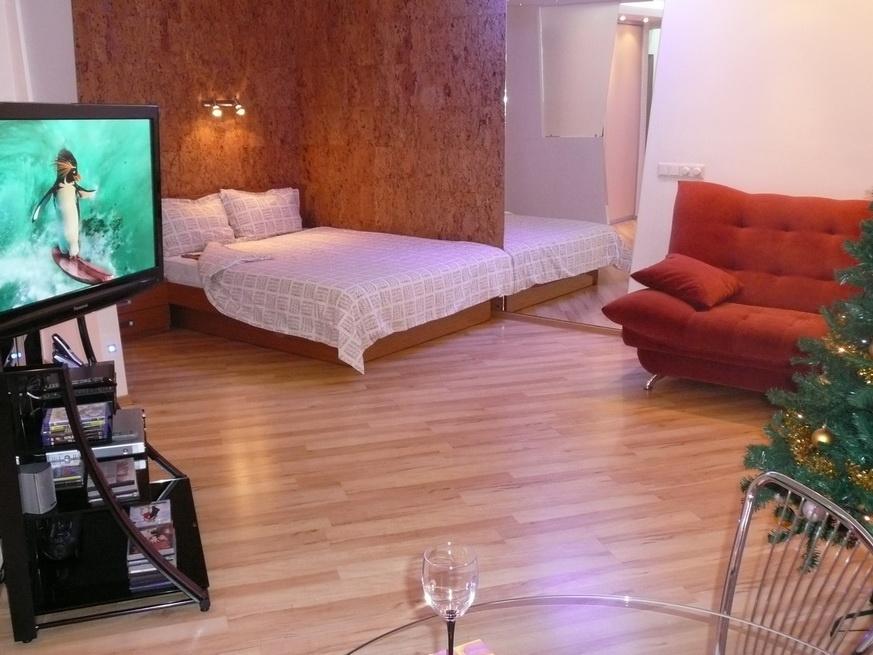 Квартира-студия класса Люкс. Фото: hotels-nsk.ru