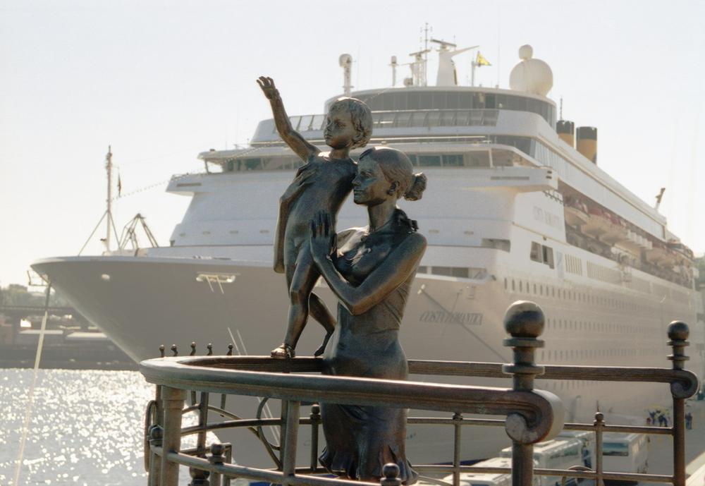 Скульптура в Одесском порту. Фото: www.port.odessa.ua