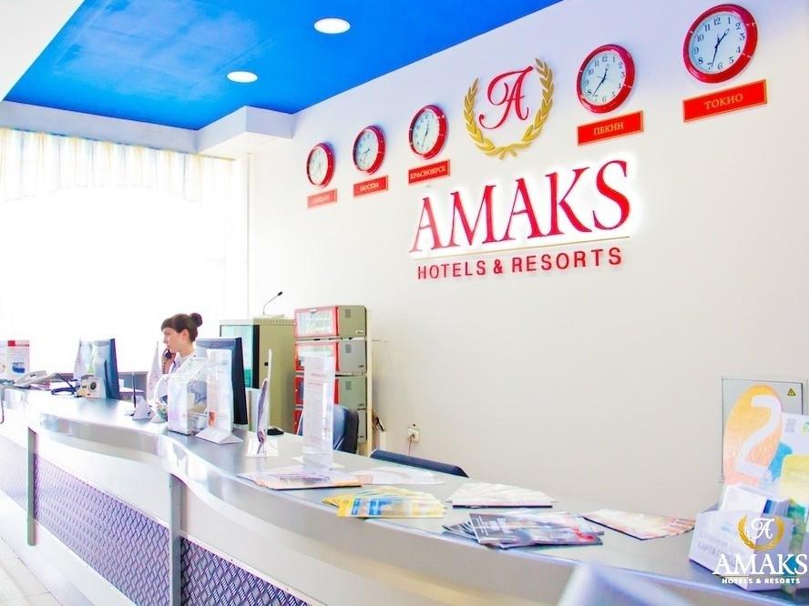Ресепшн. Фото: krasnoyarsk.amaks-hotels.ru