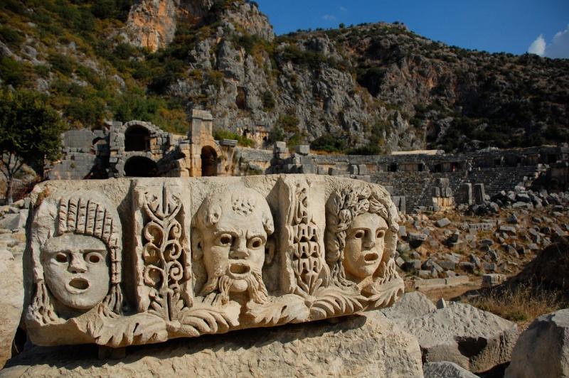 Ликийские гробницы, Мира. Фото:  ссылка на сайт