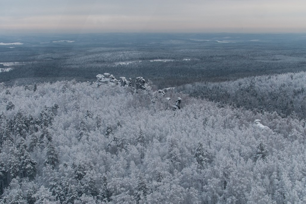 Этот снимок сделан из кабины самолета. За бортом -18°С. Фото: Дмитрий Карпунин