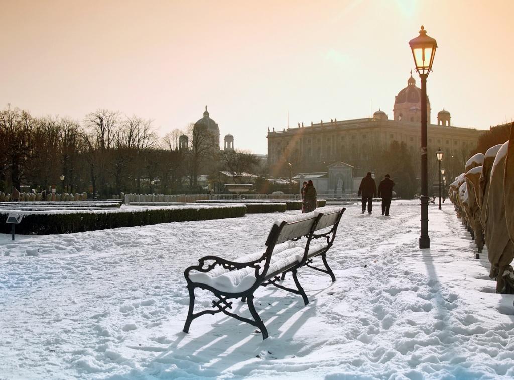 Зимняя Вена. Фото:  tonkosti.ru