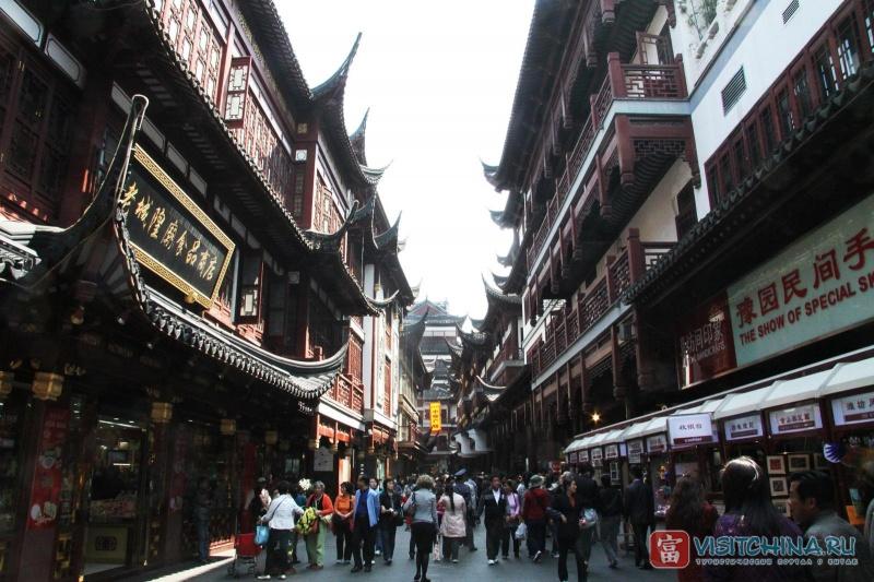 Улицы Шанхая. Фото:  VisitChina.ru