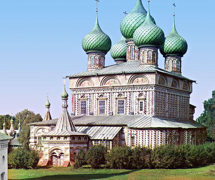 Кострома. Церковь Воскресения на Дебре. Восстановленная фотография 1910 года. Фото Сергея Прокудина-Горского.
