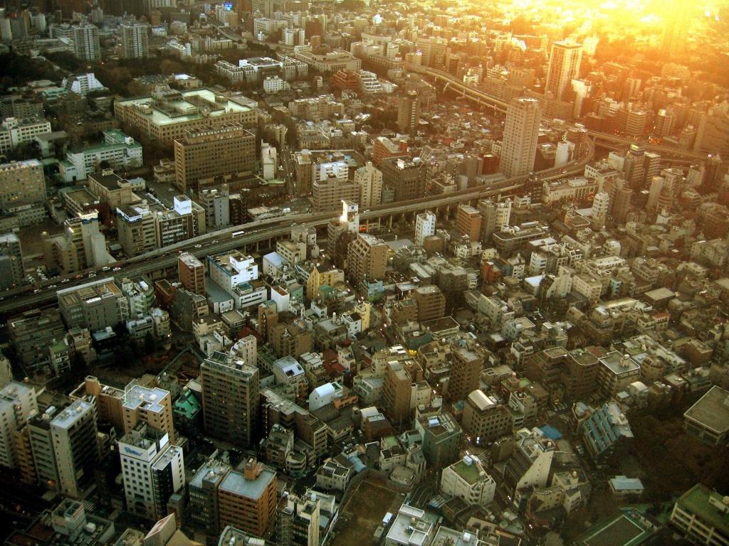 Вид на Токио с башни. Автор: Dust Mason. Фото:  www.flickr.com
