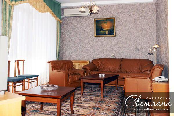 «Люкс», гостиная. Фото: www.svetlana-sochi.com