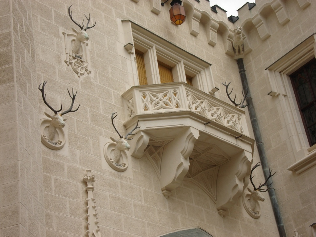 Охотничьи трофеи на стенах замка. Фото:  ru.wikipedia.org