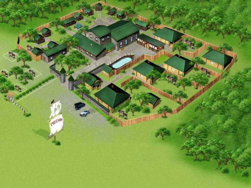 Схема загородного клуба. Фото: www.peski13.ru