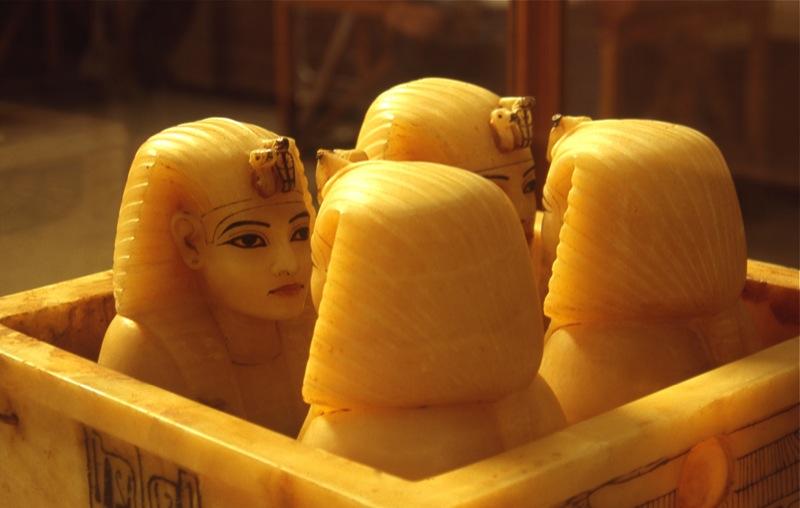 Канопы из могилы Тутанхамона, Каирский Музей. Автор: Charlie Phillips. Фото:  www.flickr.com