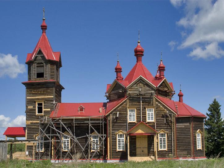 Церковь во имя св. Серафима Саровского.  Фото: Олег Борисович Нестеров.