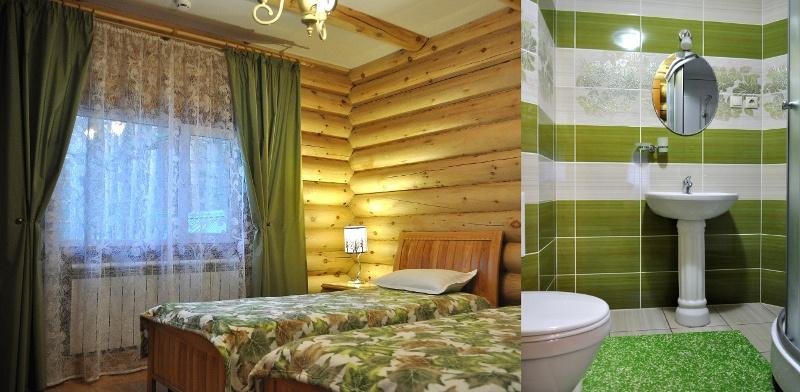 Номер стандарт с двумя отдельным кроватями (второй этаж особняка)