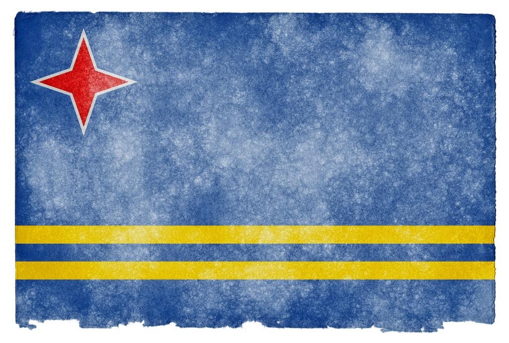 Флаг Арубы. Автор: Free Grunge Textures - www.freestock.ca. Фото:  www.flickr.com
