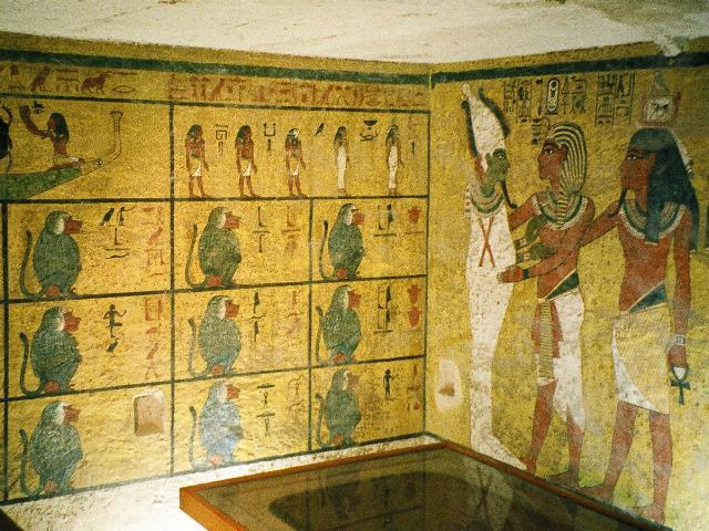 Настенные росписи в гробнице Тутанхамона. Фото:  commons.wikimedia.org
