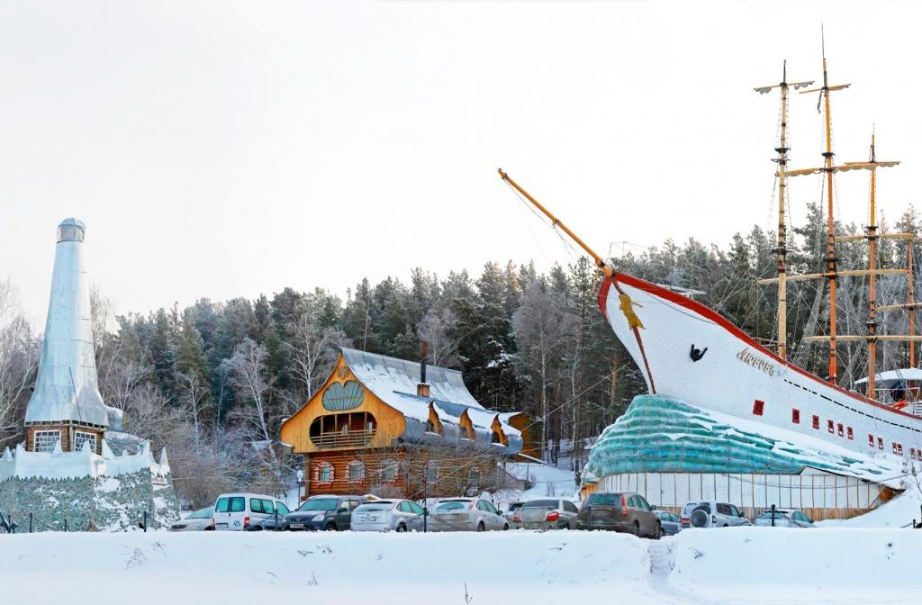 Русский Дом зимой