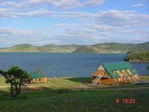 Вид на базу и Байкал   www.sttravel-irk.ru