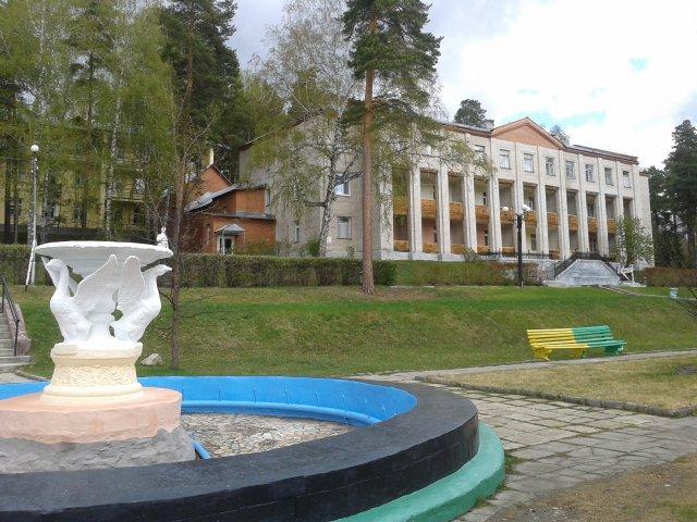 Центральный фонтан санатория