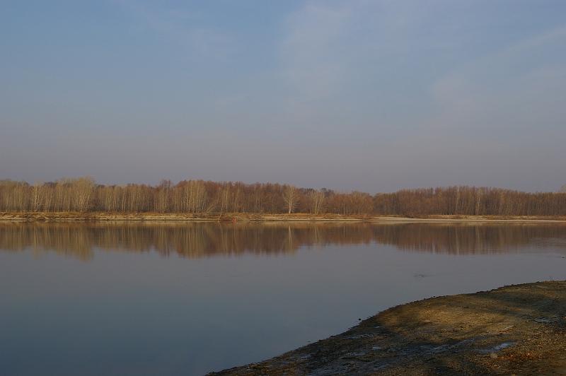 Берег реки Обь, место, где когда-то стоял Умревинский острог.   Фото: Мараев Валерий