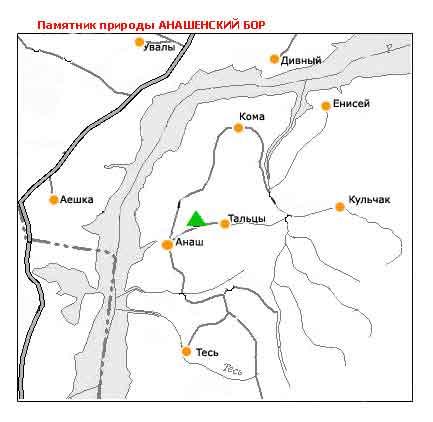 Анашенский бор на карте   www.doopt.ru