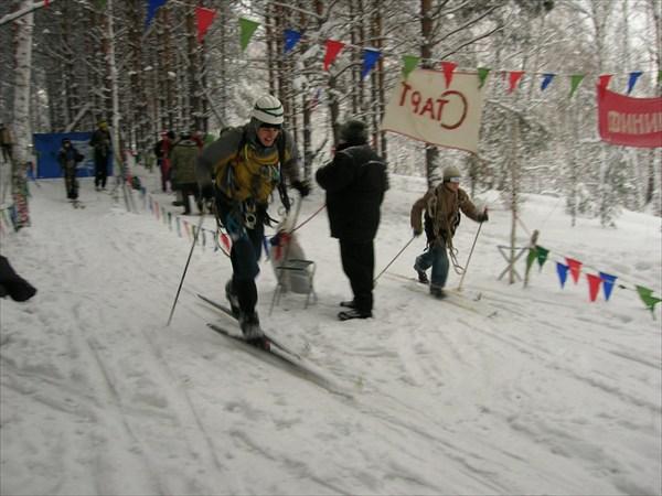 Соревнования по технике лыжного туризма. Автор: Емелин Денис