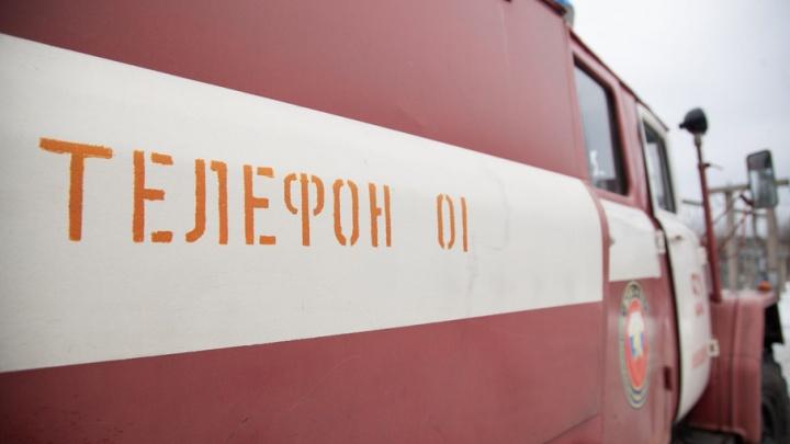 В Каргополе вор решил замести следы и сжег магазин