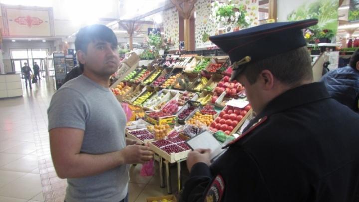 На «Центральный рынок» в Челябинске нагрянула полиция