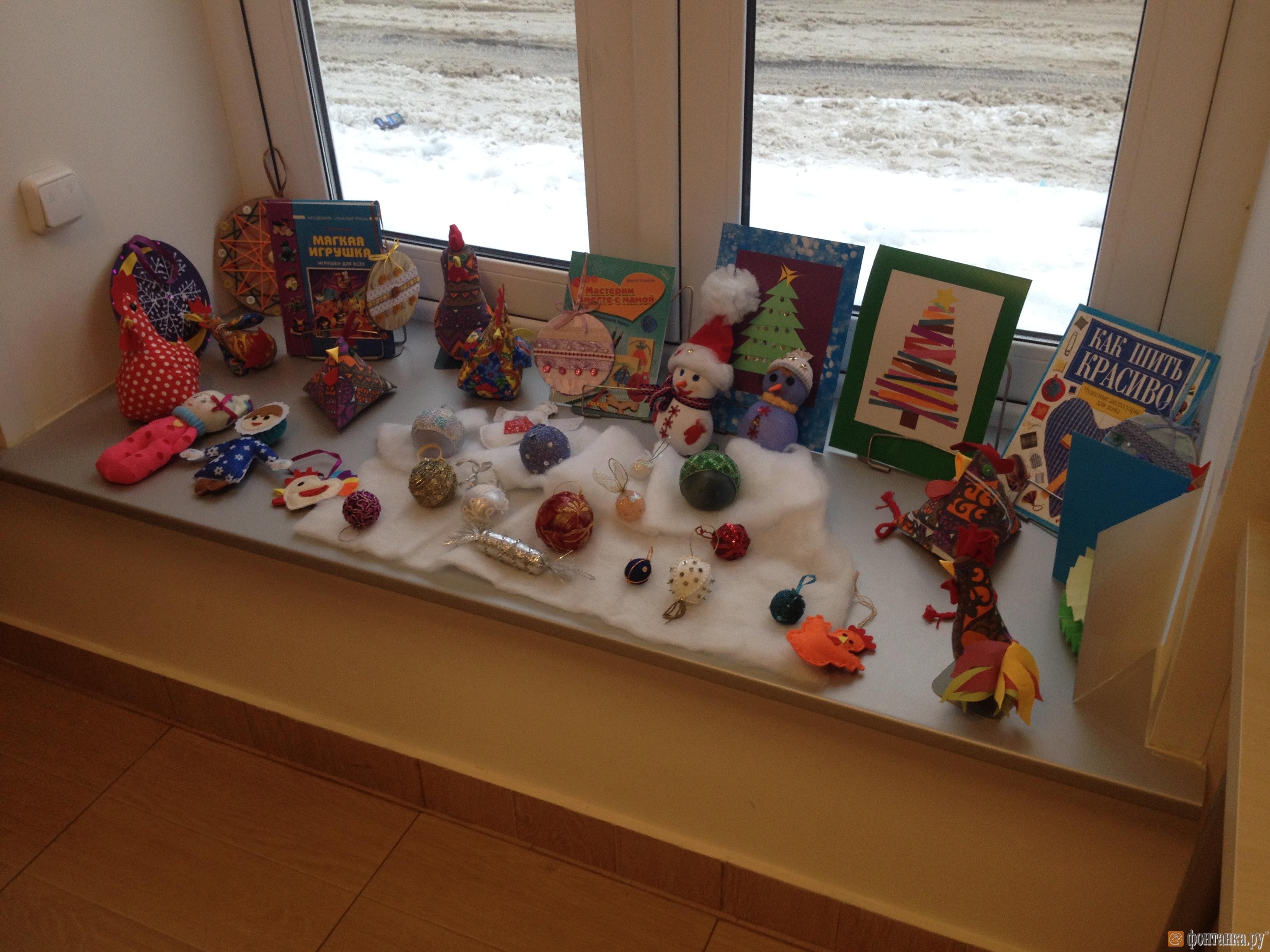 Выставка самодельных новогодних подарков