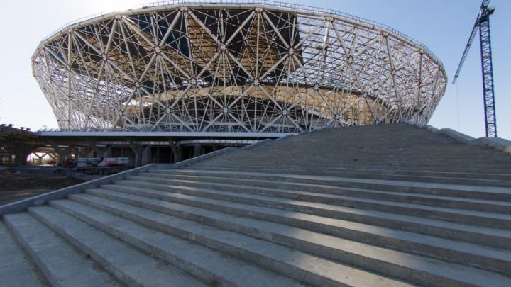 На стадионе «Волгоград Арена» лестницы построили пятиконечной звездой