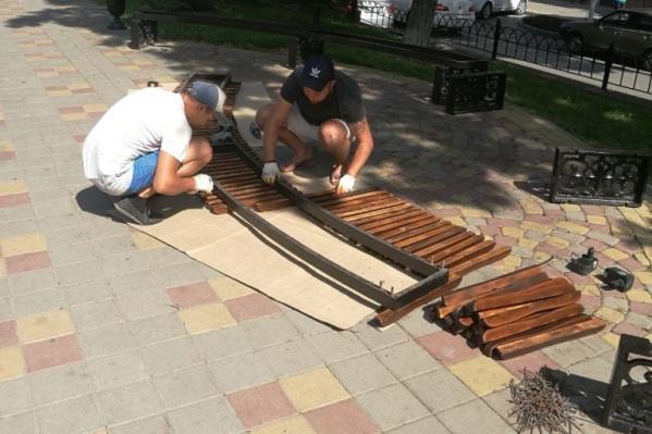 В сквере 1-го Пионерского слета ремонт завершится в конце июля